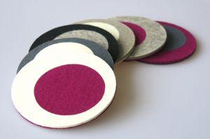 Onderzetters cirkel paars