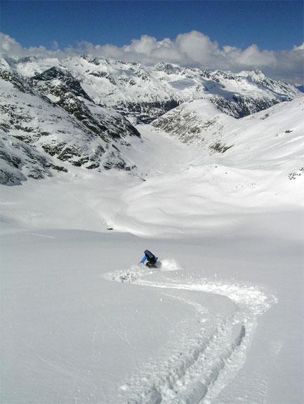Het skigebied van het Ötztal is zeer gevarieerd.