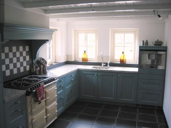 Eikenhouten Keuken Verven : Gerealiseerde keukens referentiekeukens